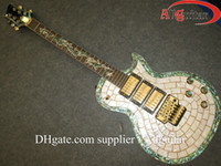 Wholesale Guitar Vibrato - custom electric guitar 3 pickups with floyd vibrato Abalone Binding Body Chinese guitar