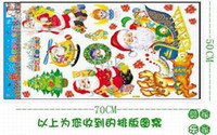 Wholesale wall paper stickers children animals - Christmas wall stickers, Santa Claus Paper Stickers, Children Home Decor,Christmas Decoration 100pcs