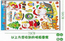 Wholesale Wall Paper Stickers Children Animals - Christmas wall stickers, Santa Claus Paper Stickers, Children Home Decor,Christmas Decoration 100pcs