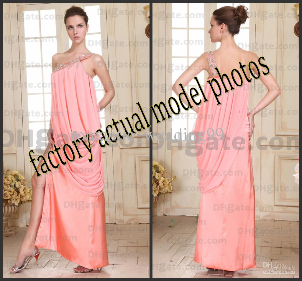 2015 Sexy Indian Designs Evening Party Dresses Pleated Chiffon ...