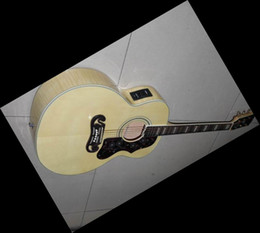 Wholesale Hollow Natural Electric Guitar - NEW ARRIVE 2012 Wholesale - Best 200 Natural acoustic electric guitar Maple