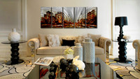 Wholesale Metal Art Oil Painting Abstract - Metal Wall Art Abstract Modern Sculpture Painting Handmade 5 panle in one set CHB6015010
