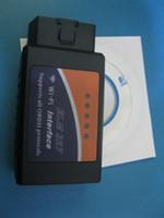 Wholesale Diagnostic Cable Iphone - ELM327 WIFI Version V2.1 OBD2 OBDII Auto Diagnostic Scanner Tool ELM 327 WiFi Diagnostic Tool work on iPhone iPad PC