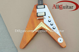 Discount guitar flying v - Rare 1958 Korina Flying V 1958 Natural Yellow Guitar Chrome Hardware V Model Electric Guitars