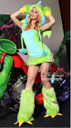 Wholesale Sexy Furry Animals Costumes - carnival Women Sexy Plush Furry Dinosaur Costumes Cosplay Witches Gothic Beauties Nightclub DS Animal Apparel xmas