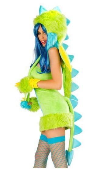 Easter lady sexy pelúcia peludo dinossauro cosplay bruxas gótico belezas danceteria ds animal vestuário