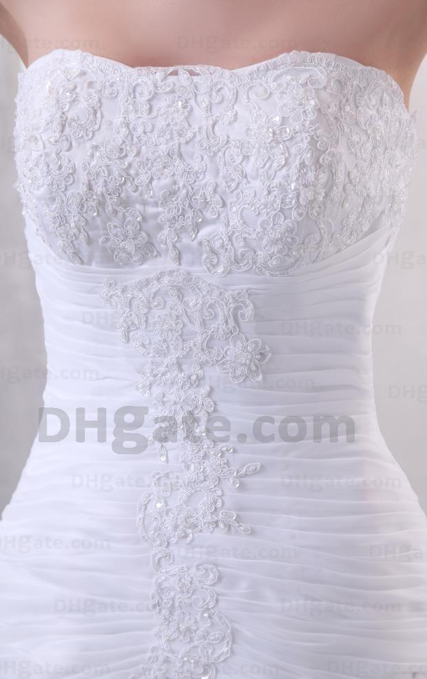 Meerjungfrau Organza Brautkleid Rüschen Real Photo