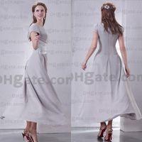 Wholesale White Collar Suit Designer - Promotion Custom Made Designer 2015 Silver Beaded Chiffon Short Sleeves Elegant Mother Of Bride Dresses Evening Dress MD010