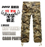 Wholesale Camouflage Pant Wide Leg - New Classic Fashion Thicken Washing Multi-Pocket Men's Camouflage Casual Overalls Pants 2429