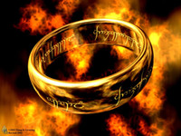 Wholesale Lord Rings Jewellery - The Lord Of The Ring 18K Yellow Gold Lotro Ring Precious Jewellery Spell Mystery Movie Ring