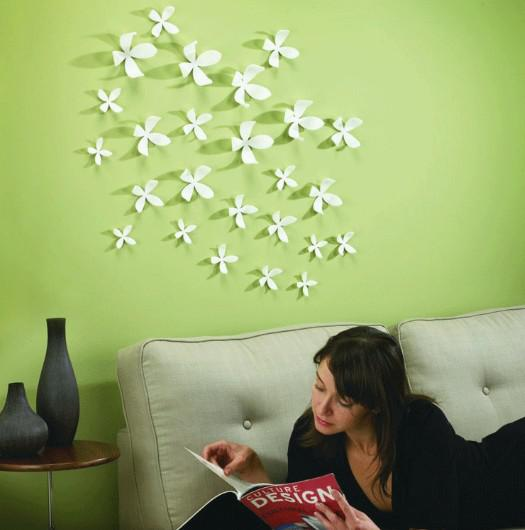 Small D Vivid Flower Wall Sticker Home Art Decoration Wallpaper - Wall decals in pakistanblack flowers removable wall stickers wall decals mural home art