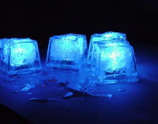 3.5CM Ice Cube Flash LED Light Press control Color Wedding Party bars Decoration