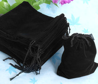 Wholesale Drawstring Black Velvet Bags - 2015 New Hot 100pcs 12*10Cm Black Velvet Gift Drawstring Pouch Bag,Jewelry Chirstmas Easter Halloween New Year Weding Party Gift Pouch Bag