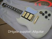 Wholesale Chinese Hand Cream - custom cream Yellow sg Mahogany 3 pickups electric guitar Chinese Guitar