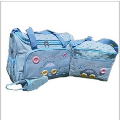 Waterdichte luier opbergtas auto ontwerp wandelwagen tas / mammy tas / luier tas inclusief fles tassen messenger bag