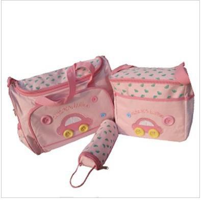 防水おむつ収納袋車のデザインベビーカーバッグ/ママの袋/おむつバッグにはボトルバッグメッセンジャーバッグが含まれています