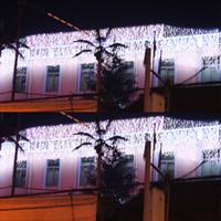 rideaux orange clair achat en gros de-320 LED allume 10 * 0.55 ~ 0.65m Rideau Lights, lumières d'ornement de Noël imperméables, fée weddind icicle led éclairage de bande a conduit srtips