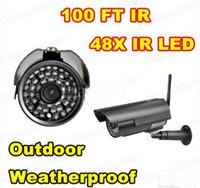 dahua 3mp kameralar toptan satış-Yeni Su Geçirmez Açık Wifi Kablosuz Ağ Güvenlik IP Kamera Gece Görüş CAT5 48 LED Wifi Kam