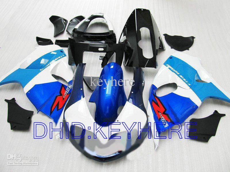 Blu / Vit ABS MOTO RACING FAIRING FÖR SUZUKI TL1000R 1998-2003 TL1000R 1998 1999 2003 Fairings Set