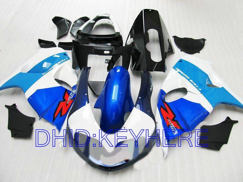 Blu / weiß ABS moto racing Verkleidung für SUZUKI TL1000R 1998-2003 TL1000R 1998 1999 2003 Verkleidung eingestellt