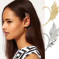 fairy ear wings achat en gros de-La plus nouvelle fashion punk metal fairy ear hook elves ailes oreilles boucles d'oreille boucles d'oreille pas de femmes percées 24pcs / lot
