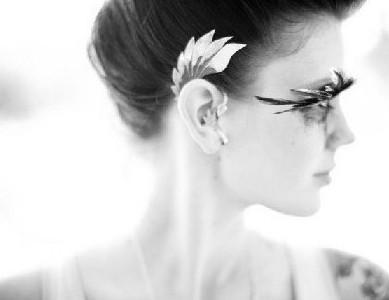 Mais recente moda punk metal fenda gancho gancho elfos asas ear cuff brincos sem piercing mulheres 24 pçs / lote