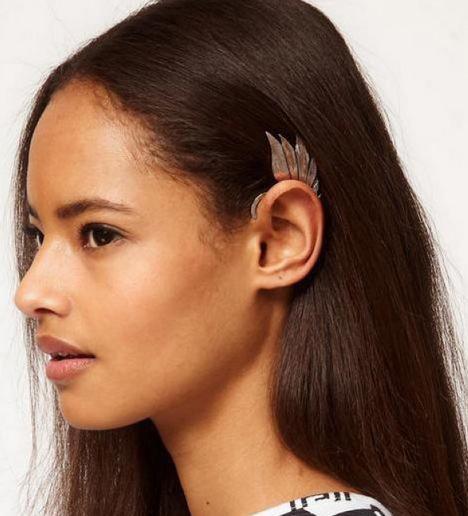 새로운!! 세련된 펑크 메탈 요정 귀 매달려 요정 날개 귀걸이 귀걸이 아니 피어싱 된 여성 24pcs / lot