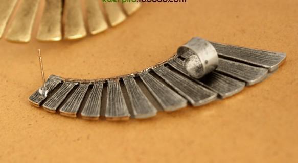 Nouveau! Mode vintage Texture ventilateur forme clip stud boucle d'oreille secteur Boucle d'oreille femmes New 24pcs