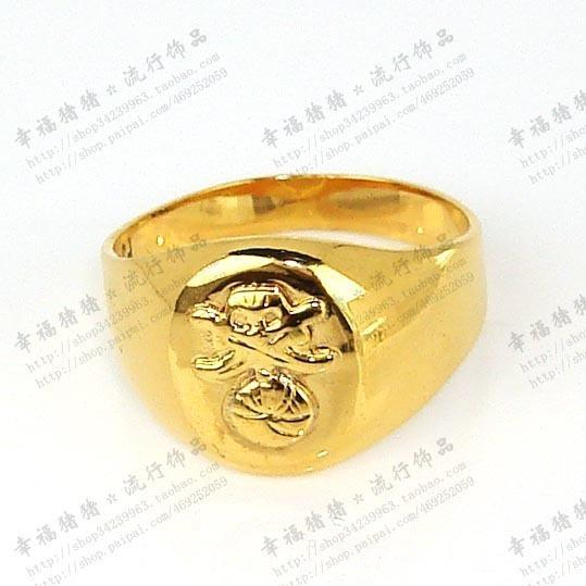 2018 Fashion Gold Nice Design Men s Ring Weight 3 2g From