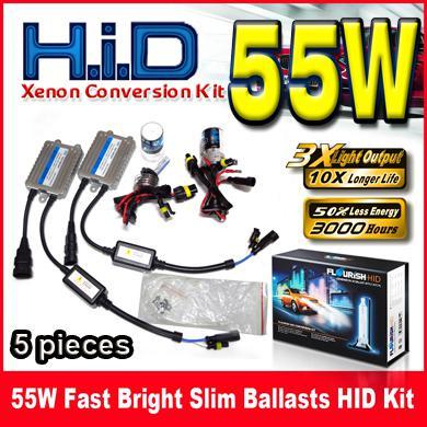 1 Takım 55 W Hızlı Parlak Ultra Ince Balastlar HID Xenon Dönüşüm Kitleri Hızlı Başlangıç 12 V Tek Işın H1 H3 H4 H7 H8 H9 H11 9004 9005 9006 9007
