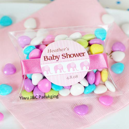 Clear Pvc Pillow Shape Candy BoxesWedding Favor Box Party Gift