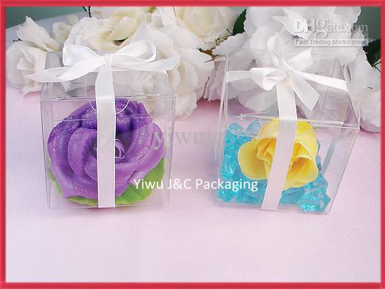 Hot 5x5 Clear Pvc Wedding Favor BoxesCandy Boxes Chocolate Boxes