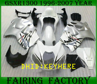 kits de carenagem para hayabusa venda por atacado-NS02 Preto ocidental ABS moto racing KIT Carenagem para SUZUKI 1996-2007 GSX-R1300 GSX R1300 96 07 hayabusa