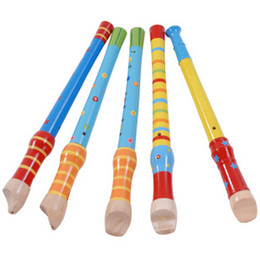 Wholesale Colorful Flutes - Hot sale Colorful Wood Music Instrument Toy Flute and Piccolo Toys Learning Best Gift For Children
