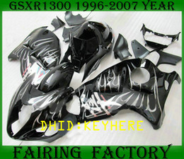 NS05 white flame ABS racing racing Kit per SUZUKI 1996-2007 GSXR1300 GSX R1300 96 07 hayabusa