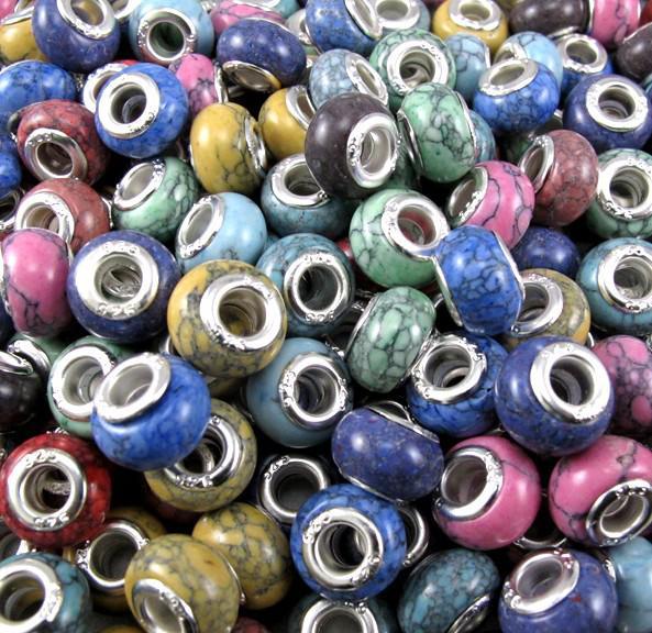 Moda contas de pedra solta 200 pcs Misturado Turquesa Beads fit Charm Bracelet