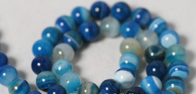 10 mm natuurlijke blauw gestreepte agaat losse kralen kralen materialen groothandel diy \ sieraden accessoires