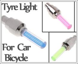 Wholesale Xenon Flash Lights - 3 colors on sale LED Flash Tyre Wheel Valve Cap Light LED Wheel Light TL001p