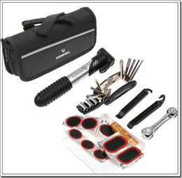Wholesale Repair Kit Set Bicycle - Bike Bicycle Tyre Repair Multifunctional Tool Set Kit mini portable Pump 16 in1 kit includes Slotted screwdriver