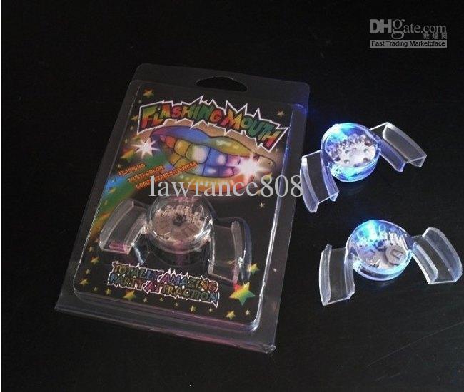 Party Toy LED Mouth blinkande ljus munskydd munstycke Intressanta mode leksaker 10st