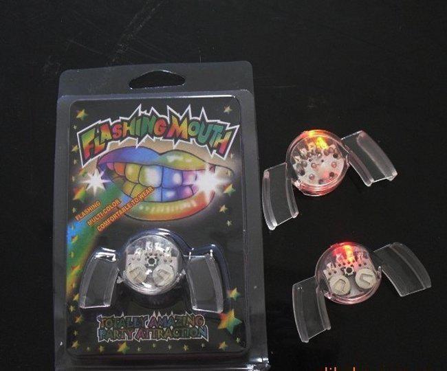 Party toy LED mouth Bouche de protection pour la bouche de la bouche de la lumière qui éclaire la mode, lots de 10pcs