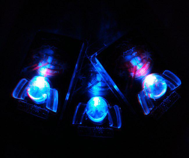 Partei Spielzeug LED Mund Blinklicht Mundschutz Mundstück interessante Mode Spielzeug 10er viel