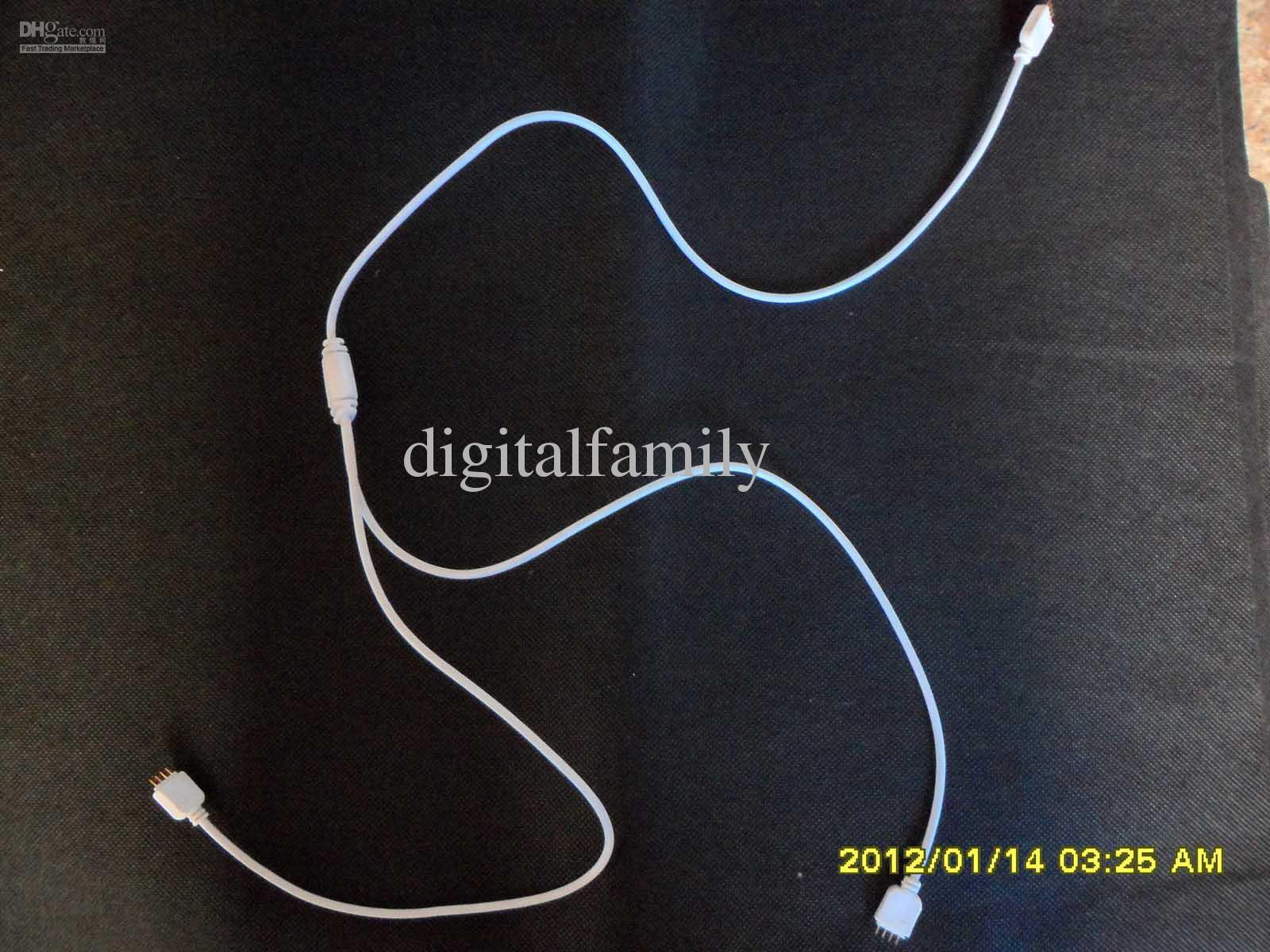 Bande flexible RVB LED 1 à 3 1 à 2 connecteur femelle pour bande lumineuse 3528 5050 SMD