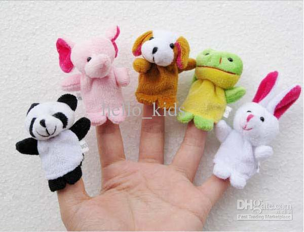 Halloween finger puppets Plush Animal finger doll Christmas gifts Baby dolls 10 animal group Children 's educational toys hands puppet