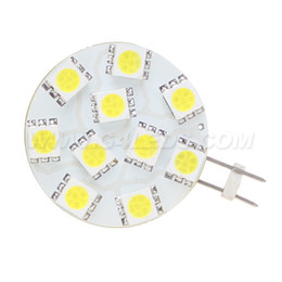12v puck lights Australia - LED G4 Spot Bulb Puck Light 10leds SMD 5050 3W AC DC10-30V Dimmable White 330LM Ships RV Dome Light Marine Bulb