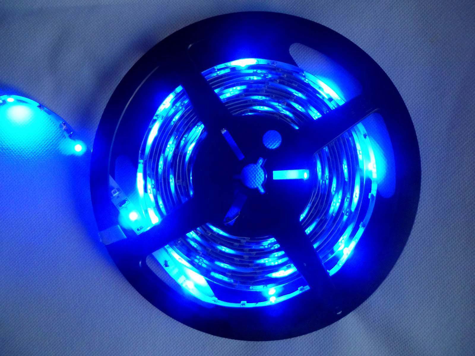 5M RGB 3528 Flexible impermeable 300 Led Tira de luz +24 Teclas IR remoto + UE EE. UU. Reino Unido Adaptador de corriente de enchufe
