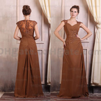 Chocolate vestidos de fiesta 2015