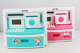 Wholesale Coin Bank Atm - freeshipping ATM shape saving box money bank coin box, child toy,piggy bank, mult-function coin box.