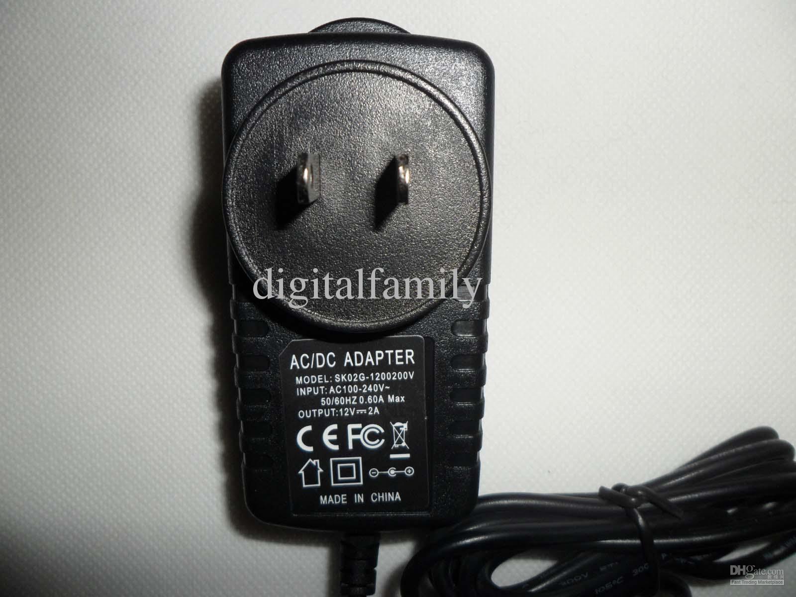 NOUVEAU 12V 2A AC / DC 24W Alimentation pour 3528 led bande AC 100-240V US EU AU UK Adaptateur plug