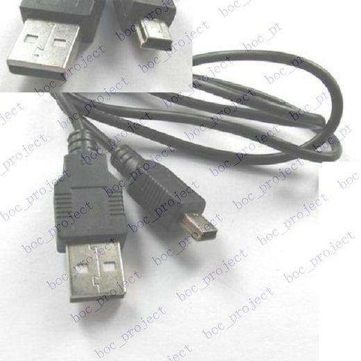 Ny USB 2.0 A till Mini 5-pin B Man Data Kabeladapter 100st /